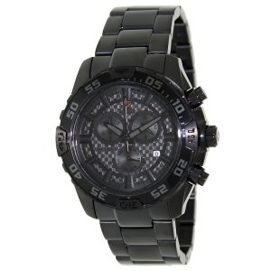 Swiss Precimax Men's Formula-7 Pro SP12151 Black Stainless-Steel Swiss Chronograph Watch