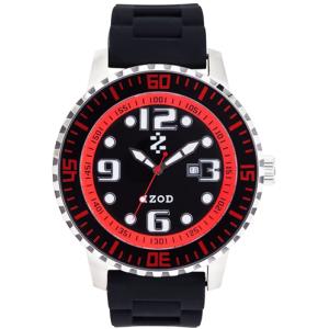 Izod Men's Eagle Watch IZS4/4.BLACK.RED Black Rubber Quartz Watch