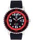 Izod Men's Eagle Watch IZS4/4.BLACK.RED Black Rubber Quartz Watch - Main Image Swatch