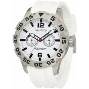 Nautica Men's Sport N16603G White Resin Quartz Watch