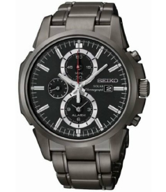 Seiko Men's Solar SSC095 Black Stainless-Steel Quartz Watch