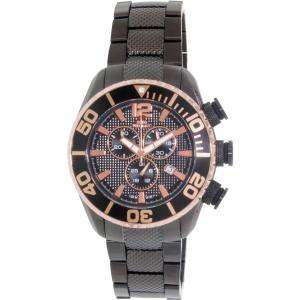 Swiss Precimax Men's Deep Blue Pro II SP12173 Black Stainless-Steel Swiss Chronograph Watch