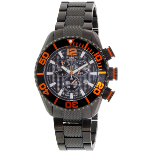 Swiss Precimax Men's Deep Blue Pro II SP12176 Black Stainless-Steel Swiss Chronograph Watch