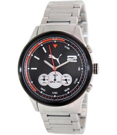 Puma Men's Motor PU102741003 Silver Stainless-Steel Quartz Watch