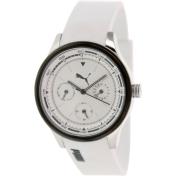 Puma Women's Motor PU102742005 White Resin Analog Quartz Watch