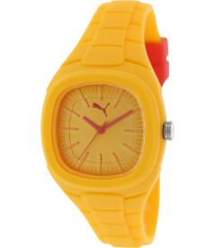 Puma Men's Active PU102882008 Yellow Rubber Analog Quartz Watch