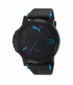 Puma Men's Motor PU102941002 Black Plastic Quartz Watch