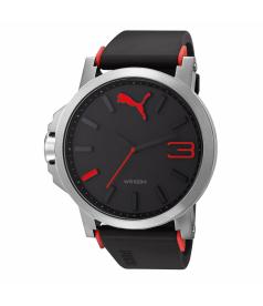 Puma Men's Motor PU102941003 Black Plastic Quartz Watch