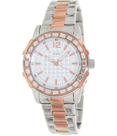 Guess Women's U0018L3 Silver Stainless-Steel Quartz Watch