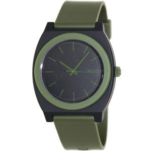 Nixon Men's Time Teller A1191042 Green Polyurethane Quartz Watch