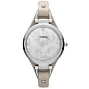 Fossil Women's Georgia ES3150 Grey Calf Skin Analog Quartz Watch