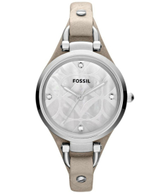 Fossil Women's Georgia ES3150 Grey Calf Skin Analog Quartz Watch