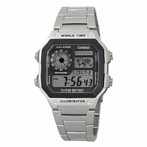 Casio Men's Core AE1200WHD-1AV Silver Stainless-Steel Quartz Watch