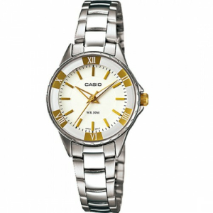 Casio Women's Core LTP1360D-7AV Silver Stainless-Steel Analog Quartz Watch
