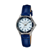 Casio Women's Core LTP1360L-2AV White Leather Analog Quartz Watch