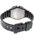 Casio Women's Core LRW200H-7E1V Black Resin Quartz Watch - Back Image Swatch