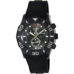 Swiss Military Hanowa Men's Oceanic 06-4196-30-009 Black Silicone Swiss Chronograph Watch