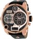 Diesel Men's Mr.Daddy DZ7261 Black Leather Analog Quartz Watch - Main Image Swatch