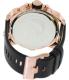 Diesel Men's Mr.Daddy DZ7261 Black Leather Analog Quartz Watch - Back Image Swatch