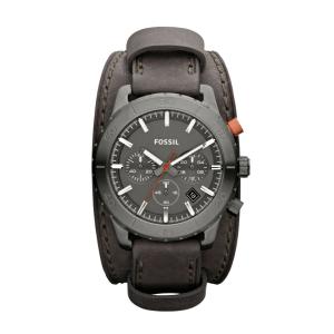 Fossil Men's Keaton JR1418 Black Calf Skin Quartz Watch