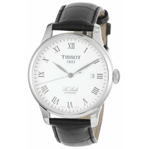 Tissot Men's Le Locle T41.1.423.33 White Leather Swiss Automatic Watch