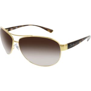 Ray-Ban Men's Gradient Aviator RB3386-001/13-63 Gold Aviator Sunglasses