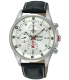 Seiko Men's SNDC87P2 Black Leather Quartz Watch - Main Image Swatch