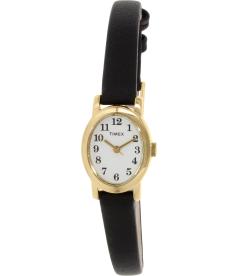 Timex Women's T2M566 Black Leather Quartz Watch