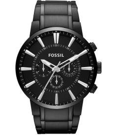 Fossil Men's FS4778 Black Stainless-Steel Analog Quartz Watch
