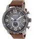 Fossil Men's Nate JR1424 Black Leather Quartz Watch - Main Image Swatch