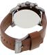 Fossil Men's Nate JR1424 Black Leather Quartz Watch - Back Image Swatch