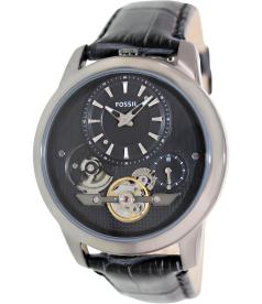 Fossil Men's Grant ME1126 Black Calf Skin Automatic Watch