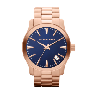 Michael Kors Men's Runway MK7065 Blue Stainless-Steel Quartz Watch