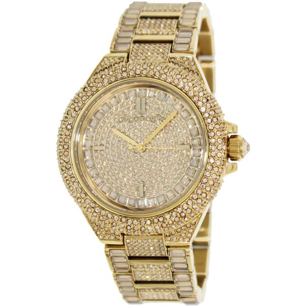 michael kors women 39 s camille mk5720 gold stainless steel quartz watch. Black Bedroom Furniture Sets. Home Design Ideas
