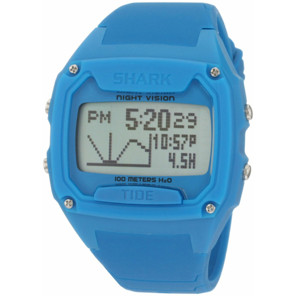 Shark 100 Meter : Freestyle men s shark blue silicone quartz watch