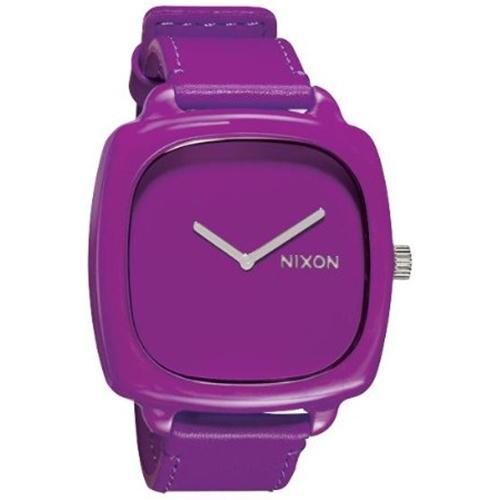 Nixon Women's Shutter A167698 Purple Leather Quartz Watch