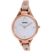 Fossil Women's Georgia ES3151 Silver Leather Quartz Watch