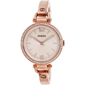 Fossil Women's Georgia ES3226 Rose-Gold Stainless-Steel Analog Quartz Watch