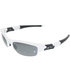 Oakley Men's Gradient Flak Jacket 03-882 White Semi-Rimless Sunglasses