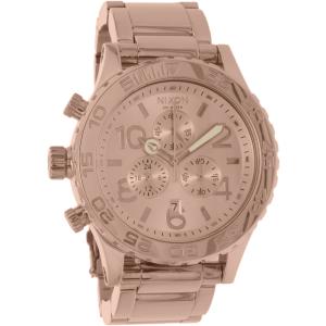 Nixon Men's 42-20 A037897 Rose Gold Stainless-Steel Analog Quartz Watch