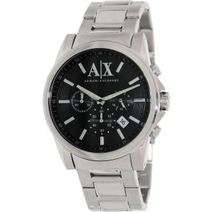 Armani Exchange Men's AX2084 Silver Stainless-Steel Quartz Watch