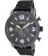 Fossil Men's Nate JR1425 Black Silicone Analog Quartz Watch - Main Image Swatch