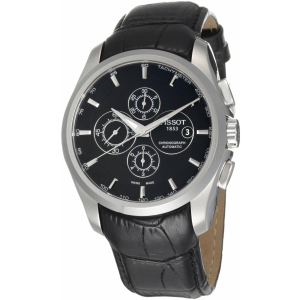Tissot Men's T035.627.16.051.00 Black Alligator Leather Swiss Automatic Watch