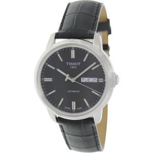 Tissot Men's T065.430.16.051.00 Black Leather Automatic Watch