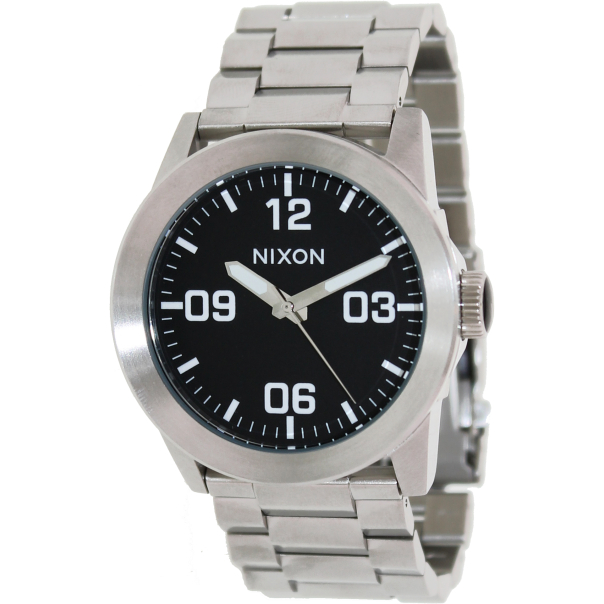 Nixon Steele Tops: Nixon Men's Private A276000 Silver Stainless-Steel Quartz