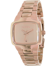 Nixon Men's Player A300897 Rose-Gold Stainless-Steel Quartz Watch