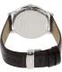 Tissot Men's T063.610.16.037.00 Silver Leather Swiss Quartz Watch - Back Image Swatch