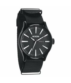 Nixon Men's The Sentry A0271148 Black Nylon Analog Quartz Watch