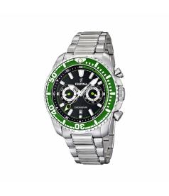 Festina Men's Crono F16564/6 Black Stainless-Steel Quartz Watch