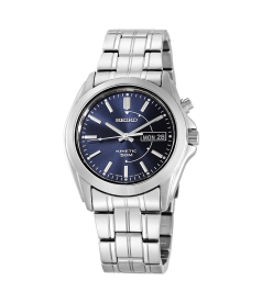 Seiko Men's Kinetic SMY111 Blue Stainless-Steel Quartz Watch